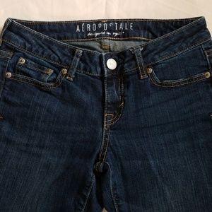 Aeropostale Skinny Jeans Medium Denim Size 0 Short